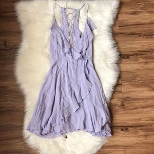 UO Kimchi Blue Purple Ruffled Dress